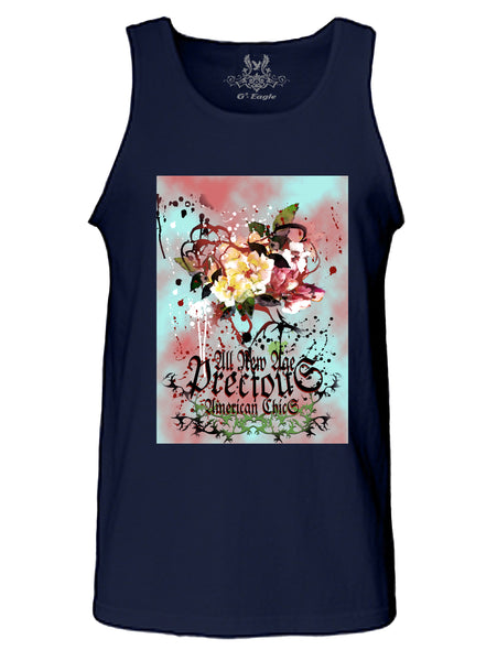 Abstract Art American Chic Digital Print Tank Top