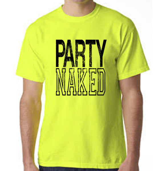 Party Naked Graphic Print T-Shirt