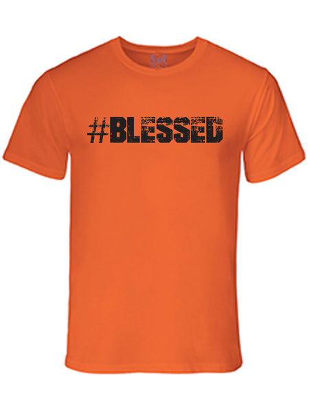 #Blessed Graphic Print T-Shirt