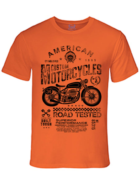 American Motorcycle Vintage Graphic Print T-Shirt