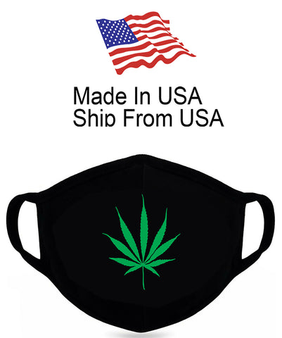 Marijuana Leaf Cotton Face Mask
