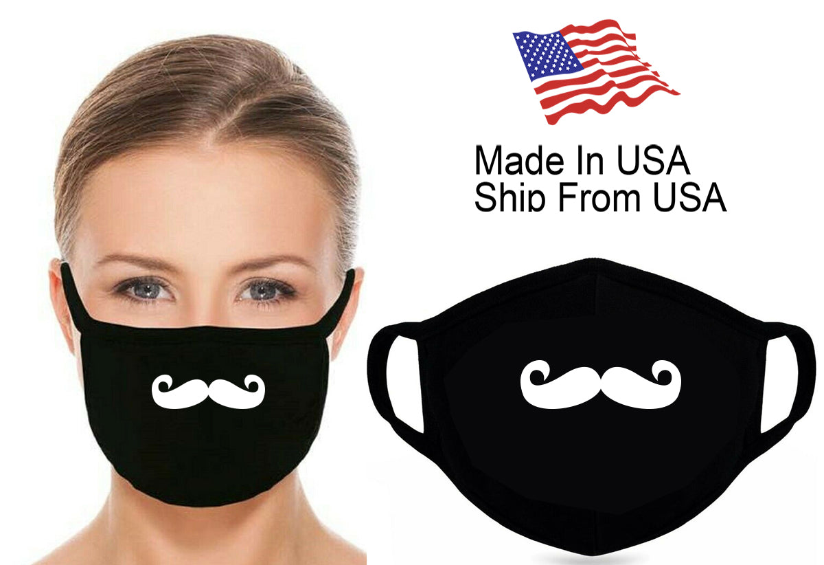 Animated Mustache Cotton Face Mask