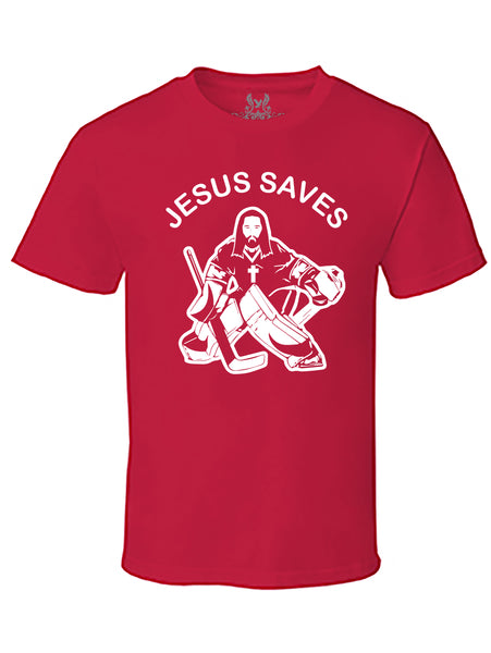 Jesus Saves Graphic Print T-Shirt