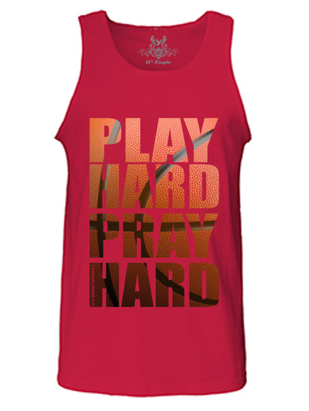 Play Hard Pray Hard Digital Print Tank Top