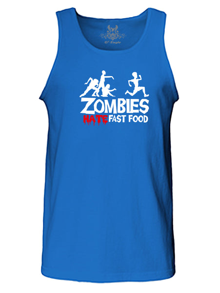 """Zombies Hate Fast Food"" Tank Top"