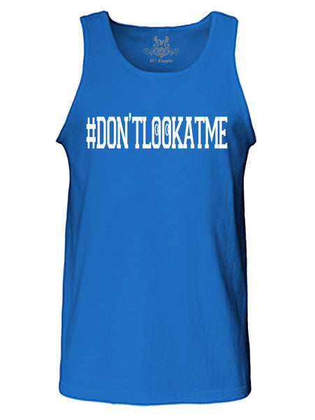 Don't Look At Me Graphic Print Tank Top
