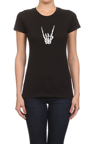 Skeleton Rockstar Women's T-Shirt