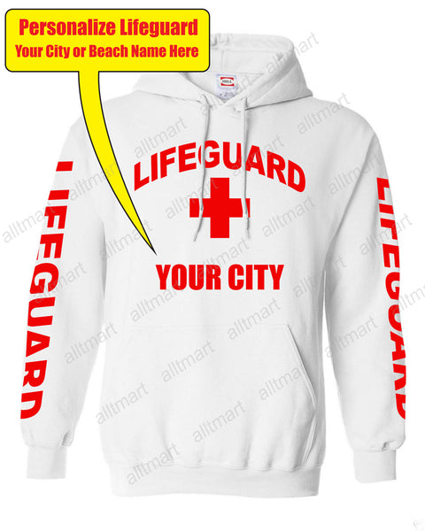 "Customizable ""YOUR CITY"" LifeGuard Fleece Hoodie"