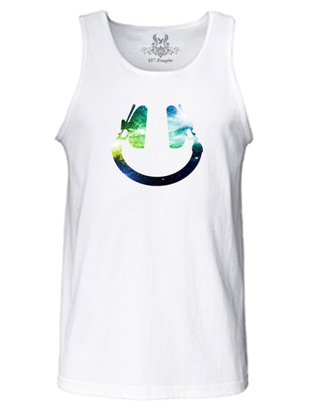 Happy Face Digital Print Tank Top