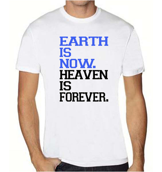 Earth VS Heaven Graphic Print T-Shirt