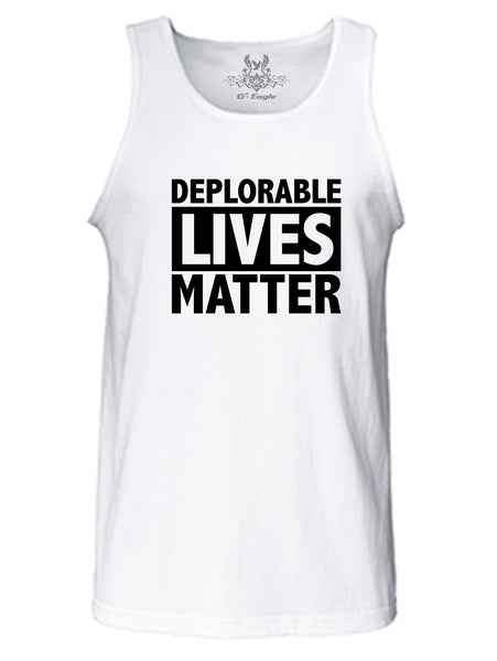 Deplorable Lives Matter Graphic Print Tank Top