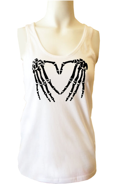 Skeleton Hands <3 Womens Tank Top