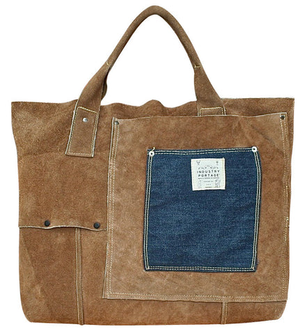 Upcycled Suede Carryall IV