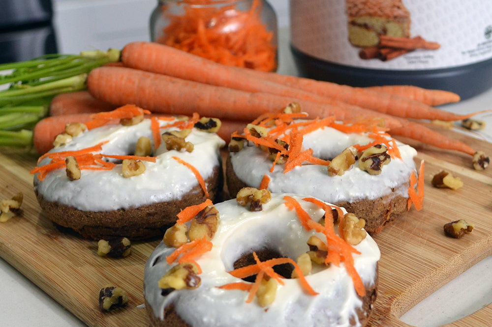 Gluten-Free Carrot Cake Donuts with Natalie Matthews