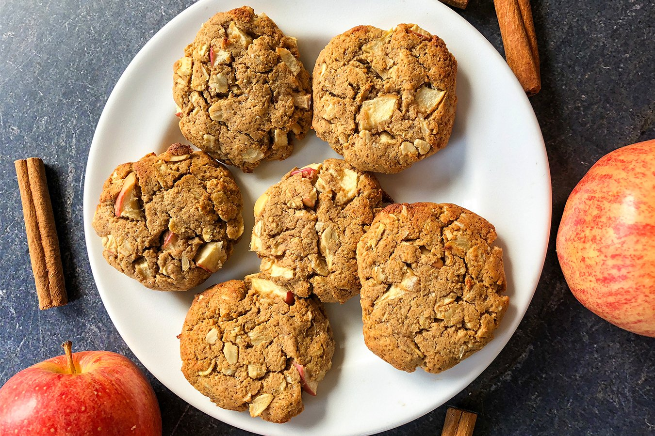 Apple Oatmeal Protein Cookies