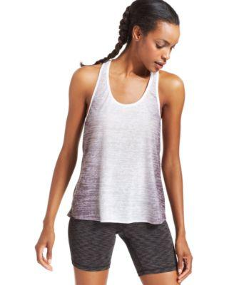 Ideology Ombre-Print Stretch T-Back Tan Deep Charcoal
