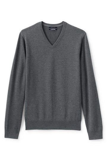 Mens Long Sleeve V-Neck Sweater - Goodfellow & Co™ Heather Gray