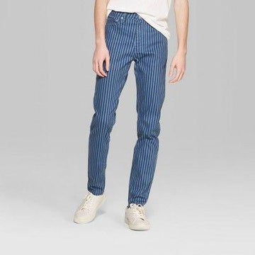 Men's Striped Mid-Rise Vertical Jeans - Original Use