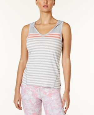 Calvin Klein Hooded Striped Tank Top Neon Calypso
