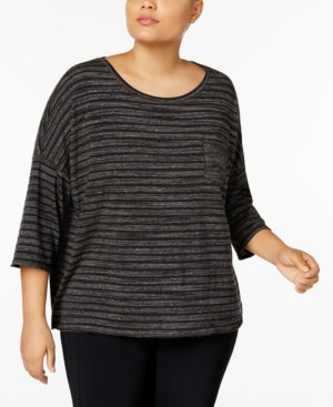 Calvin Klein Performance Plus Size Drop-Shoulder Printed Top