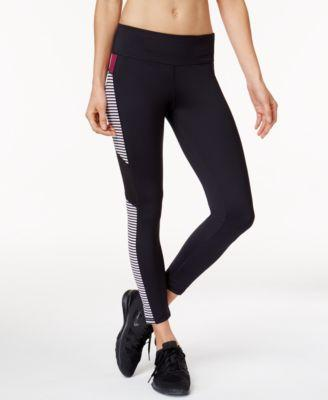 Ideology Cropped Striped Leggings Noir
