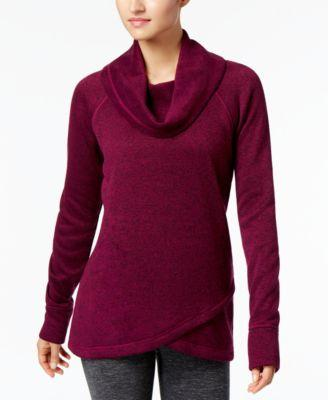 Ideology Cowl-Neck Sweater Cross-Over