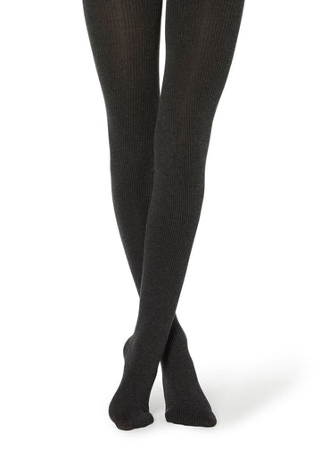 A New Day Women's Black Sweater Tights Ebony Very Soft Nip