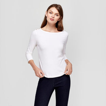 Women's 3/4 Sleeve Boatneck T-Shirt - A New Day