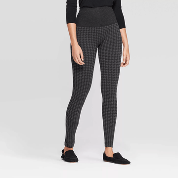 A New Day Women's Seamless High Waist Houndstooth Sweater Leggings