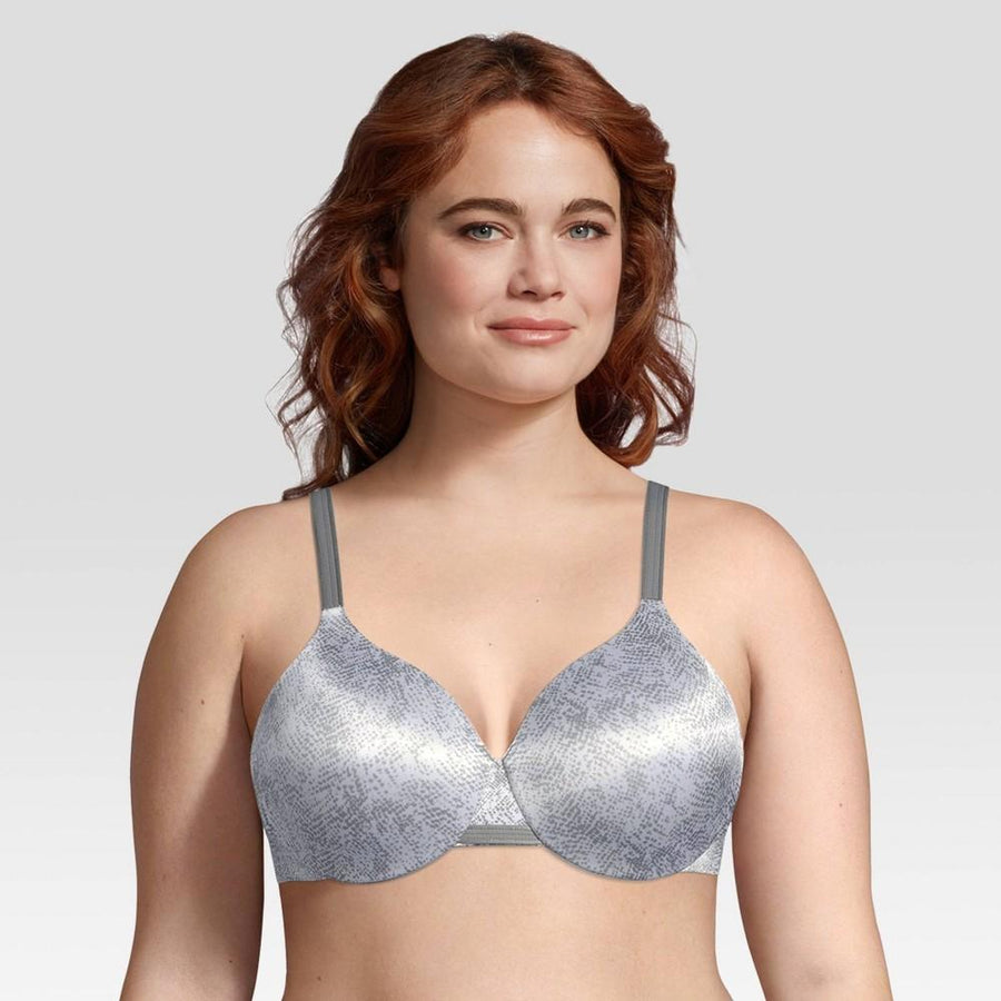 Beauty By Bali® Women's Concealing Petals Gray Snakeskin Underwire Bra