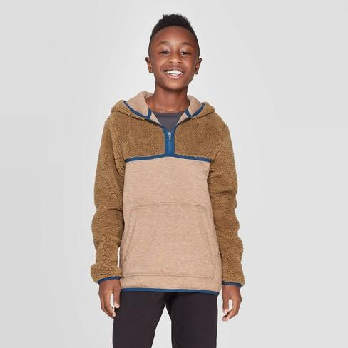 Boys' Half Zip Sherpa Fleece Hoodie - C9 Champion
