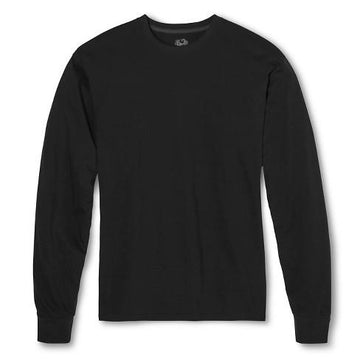 Fruit of the Loom Men's Long Sleeve T-Shirt - Black