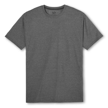Fruit of the Loom Select Men's Charcoal Heather Short Sleeve Tee