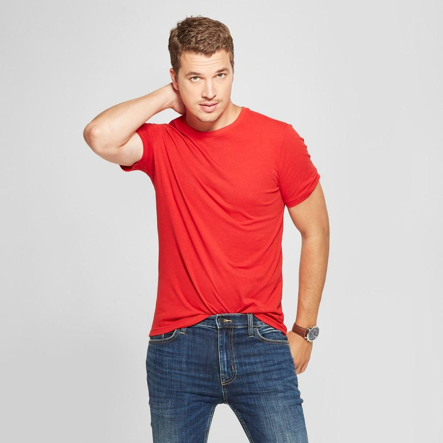 Men's Slim Fit Short Sleeve Core Crew T-Shirt - Goodfellow & Co