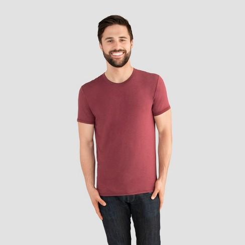Fruit of the Loom Select Men's Everlight Short Sleeve - Cranberry