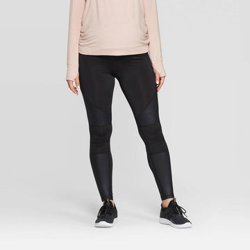 Maternity Moto Leggings - Isabel Maternity by Ingrid & Isabel Black