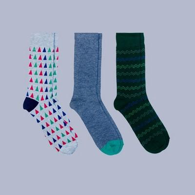 Men's 3pk Crew Socks - Goodfellow & Co™ Green 7-12