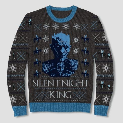Men's Game of Thrones Silent Night King Pullover Sweater - Black