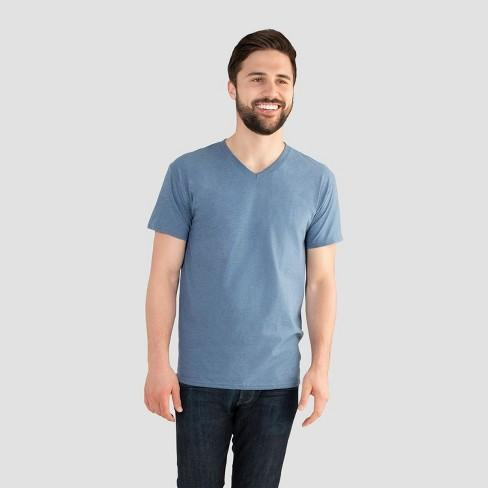 Fruit of the Loom Select Men's V-Neck T-Shirt - Dungaree Heather