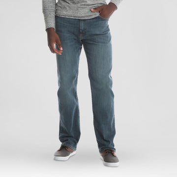 Wrangler Men's Relaxed Fit Jeans with Flex - Slate Grey