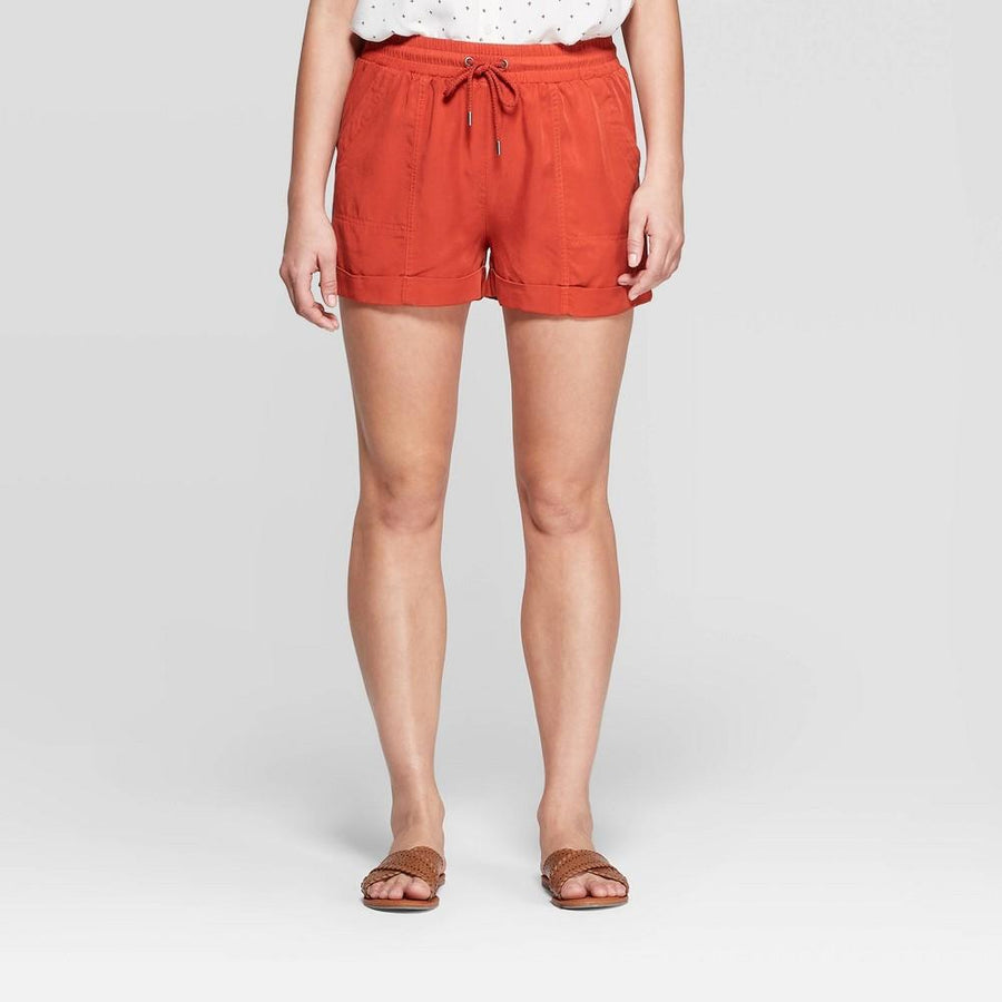 Women's Mid-Rise Utility Shorts - Universal Thread - Rust