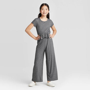 Girls' Metallic Jumpsuit - Art Class - Black