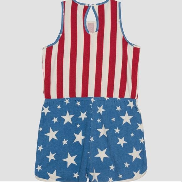 Women's Patriotic All Over Print Romper - Junk Food