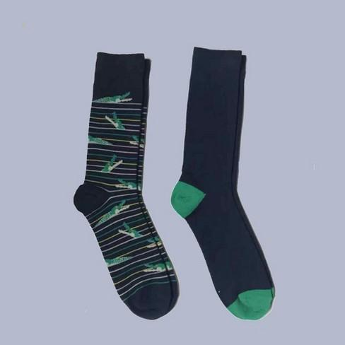 Men's 2pk Alligator Novelty Crew Socks - Goodfellow 7-12