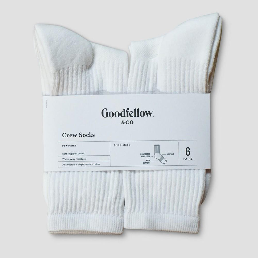 Men's Antimicrobial Resistant Athletic Socks - Goodfellow & Co 6-12