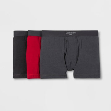 Men's Premium Knit 3pk Boxer Briefs - Goodfellow & Co