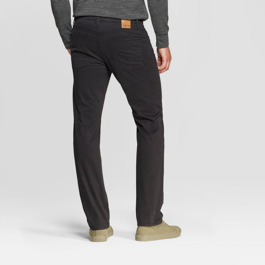 Men's Regular Straight Fit Chino Pants - Goodfellow & Co - Black