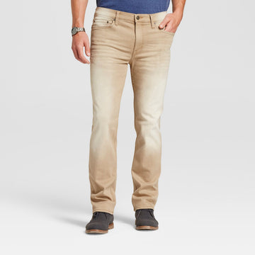 Men's Slim Straight Fit Jeans - Goodfellow & Co - Tan