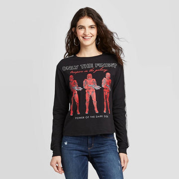 Star Wars Red Stormtrooper Long Sleeve Graphic T-Shirt (Juniors')