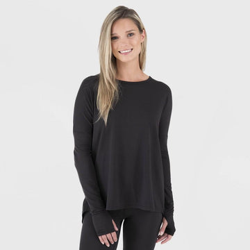 Wander by Hottotties Women's Charolotte Drop Shoulder Thermoregulation Tunic